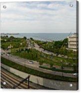 Chicago Skyline Showing Monroe Harbor Acrylic Print