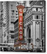Chicago State Street Acrylic Print