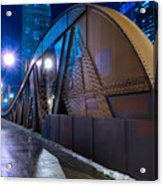 Chicago Steel Bridge Acrylic Print