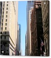 Chicago Street With Flags Acrylic Print