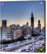 Chicago Sunrise Rush Hour Acrylic Print
