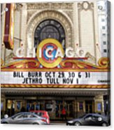 Chicago Theater Marquee Jethro Tull Signage Acrylic Print