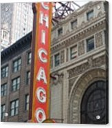 Chicago Theater Sign Acrylic Print