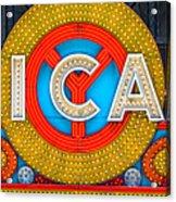 Chicago Theatre Sign V3crop Details Dsc2176 Acrylic Print