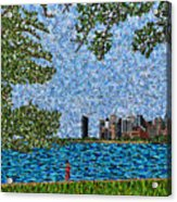 Chicago - View From Lakefront Trail Acrylic Print
