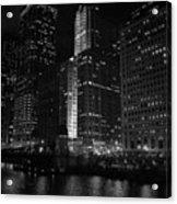 Chicago Wacker Drive Night Acrylic Print