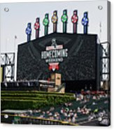 Chicago White Sox Home Coming Weekend Scoreboard Acrylic Print