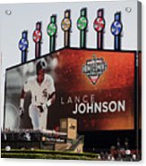 Chicago White Sox Lance Johnson Scoreboard Acrylic Print