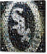 Chicago White Sox Ring Mosaic Acrylic Print by Paul Van Scott