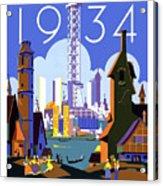 Chicago, World Fair, Vintage Travel Poster Acrylic Print
