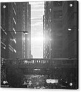 Chicagohenge Bw Acrylic Print
