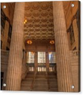 Chicagos Union Station Entry Acrylic Print
