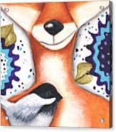 Chickadee Fox Acrylic Print