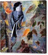 Chickadee In The Fall Acrylic Print