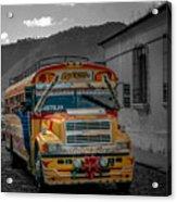 Chicken Bus - Antigua Guatemala Acrylic Print