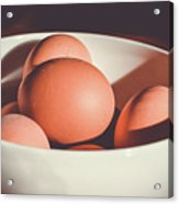 Chicken Eggs Acrylic Print