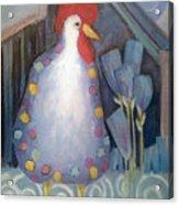Chicken In My Garden Acrylic Print