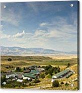 Chico Hot Springs Pray Montana Panoramic Acrylic Print