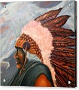 Chief Eagle Cloud Acrylic Print