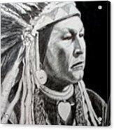 Chief Yellow Wolf Acrylic Print