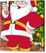 Chiefs Santa Claus Acrylic Print