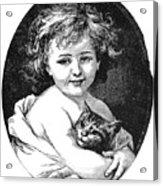 Child & Pet, 19th Century Acrylic Print