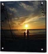 Child And Grandmother At Ft Desoto Acrylic Print