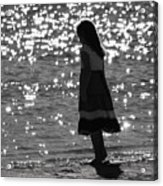 Child By Water Acrylic Print