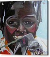 Child Eating A Rat 2007 For The Love Of Money Acrylic Print