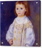 Child In A White Dress Lucie Berard 1883 Acrylic Print
