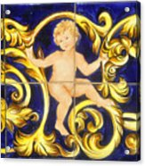 Child In Blue And Gold Acrylic Print