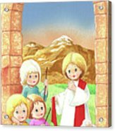 Child Shepherds Acrylic Print