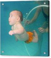 Child Swims Underwater  Acrylic Print