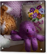 Child - Toy - Octopus In My Closet  Acrylic Print