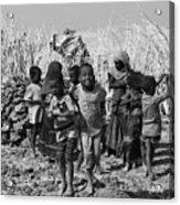 Childern Of The Danakil, Ethiopia Acrylic Print