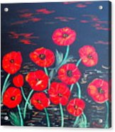 Childlike Poppies Acrylic Print by Alanna Hug-McAnnally