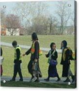 Children Crossing Acrylic Print