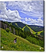 Children On Vail Mountain Acrylic Print