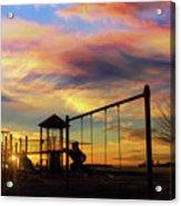 Children Playground At Sunset Acrylic Print