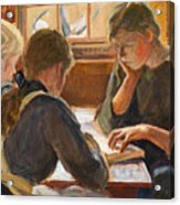 Children Reading Acrylic Print