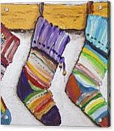 Children's  Socks For Christmas Gifts Acrylic Print