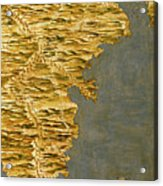 Chile And Argentina With The Strait Of Magellan Acrylic Print