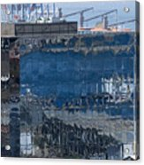 Chile Harbor Reflections Acrylic Print