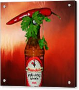 Chili Pepper, Coriander And Peri-peri By Kaye Menner Acrylic Print