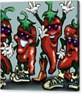 Chili Peppers Gang Acrylic Print