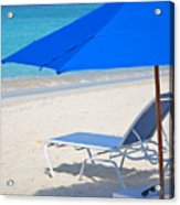 Chilling On The Beach Anguilla Caribbean Acrylic Print