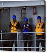 Chilling Sailors Acrylic Print