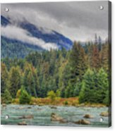Chillkoot River Hdr Paint Acrylic Print