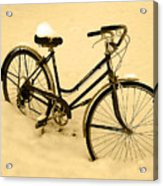 Chilly Ride Acrylic Print
