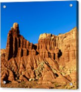 Chimney Rock At Capitol Reef Acrylic Print